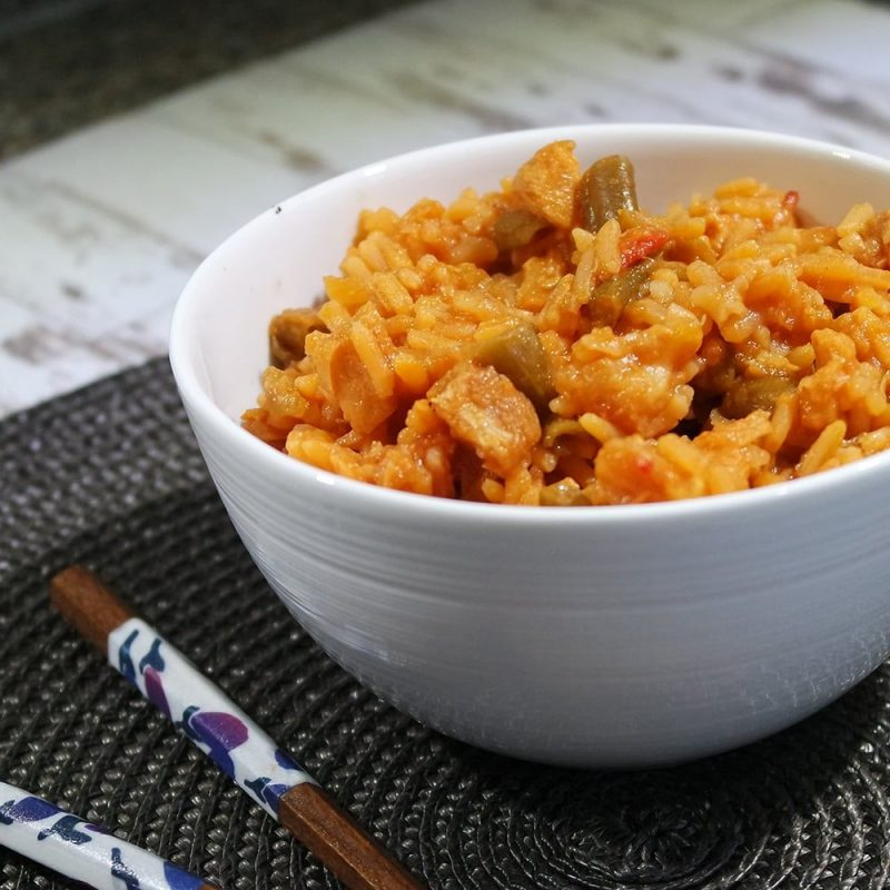 Noodrantsoen zoetzure kip met rijst 25 jaar houdbaar klaargemaakt