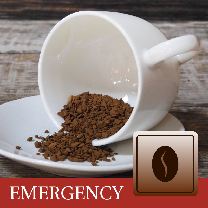 Instant koffie noodrantsoen 15 jaar houdbaar